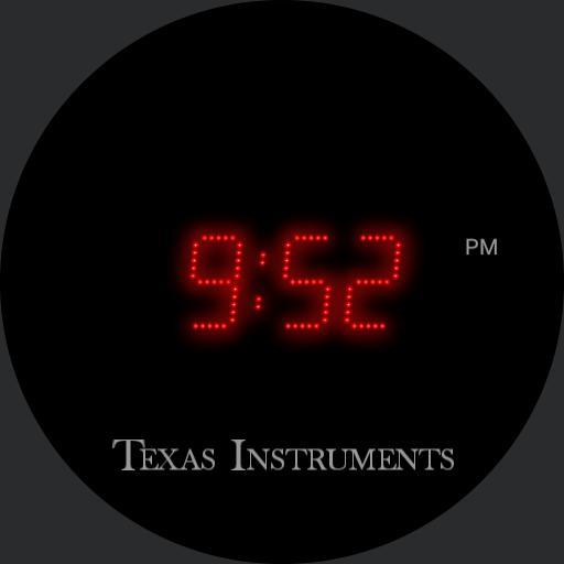 LED watch Black face v1.74 ambient background