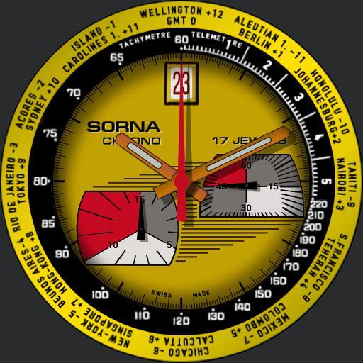 Sorna Bullhead Chronograph c. 1970s