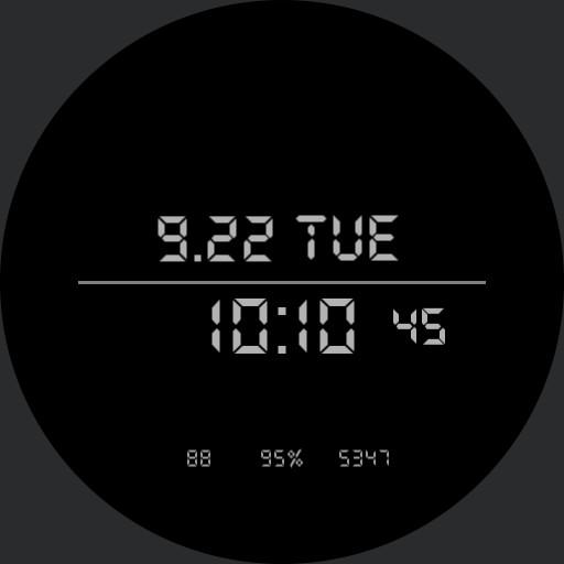 Digital watch 24h