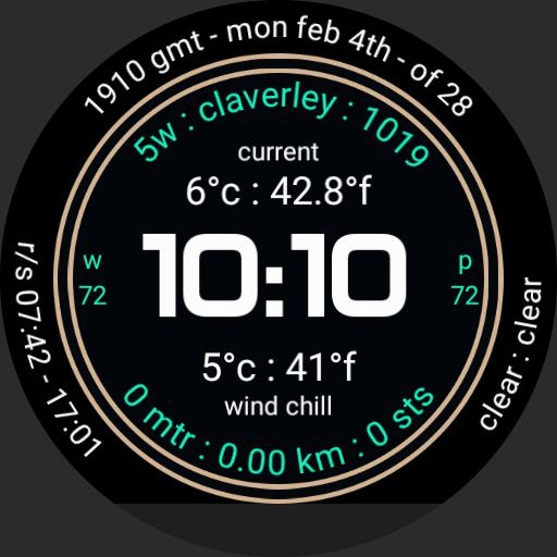 Wind Chill ucolor metric
