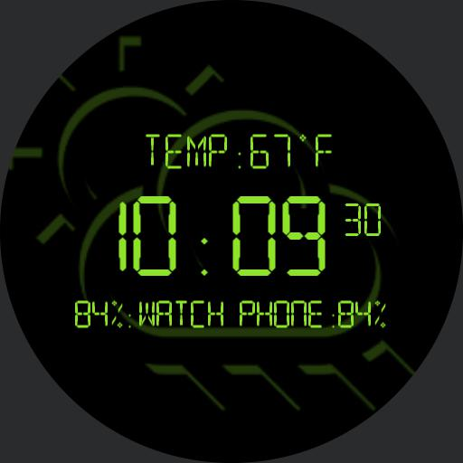 Old School VII LCD Weather Watch