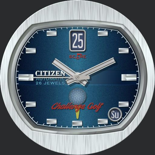 Citizen Challenge Golf 7760-770901KBLS C.1972 /73