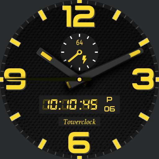Towerclock yellow - black