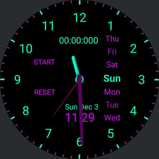 Purple x Turquoise watch face