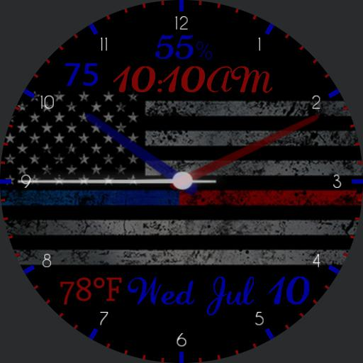 Thin Blue Red Line 1