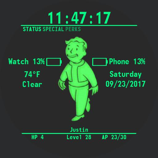 Fallout 4 Pipboy Watch Face Round
