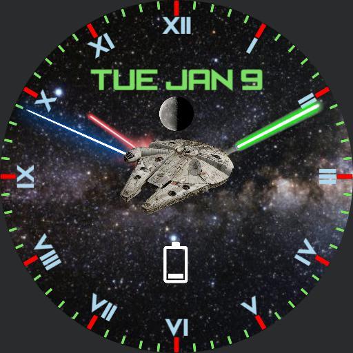 Star Wars Lightsaber Round Face