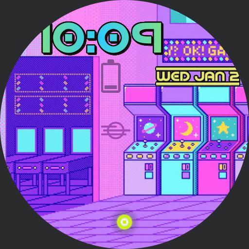vaporwave arcade