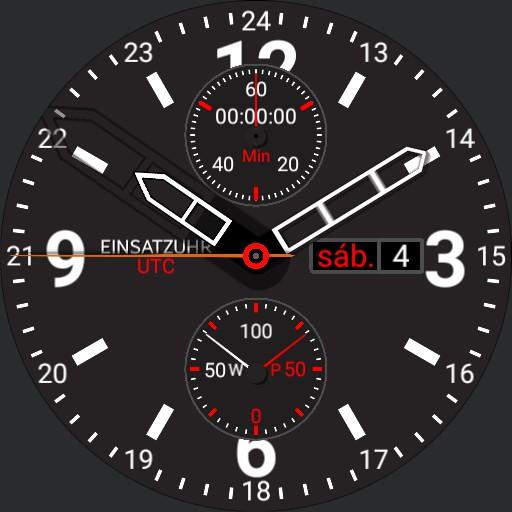 Einsatzuhr 5.4 UTC 1/12 Stunde