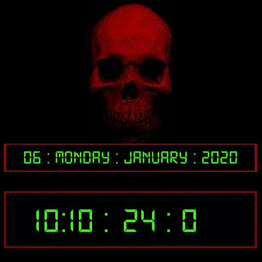 Red Skull Timer Watch