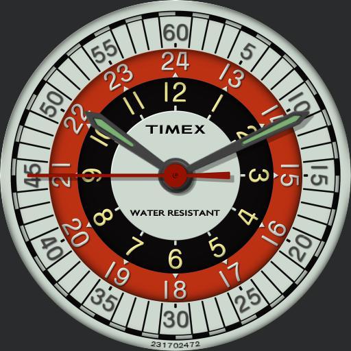 "Timex Sprite ""Roulette Wheel - Bulls Eye"" C.1972"