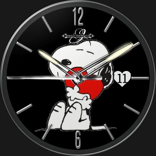 Snoopy Valentinstag 1  3fach Dim Tageszeit