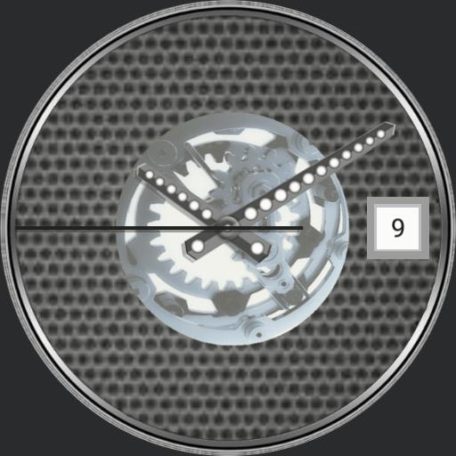 Virtual mechanical watch with GIF animation