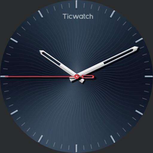 ticwatch analog blue