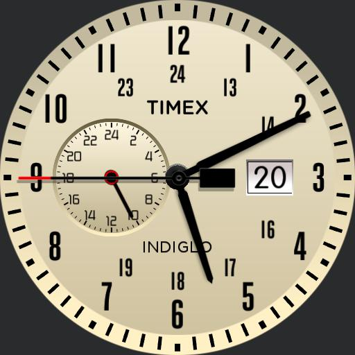 Basic Timex dual time zone