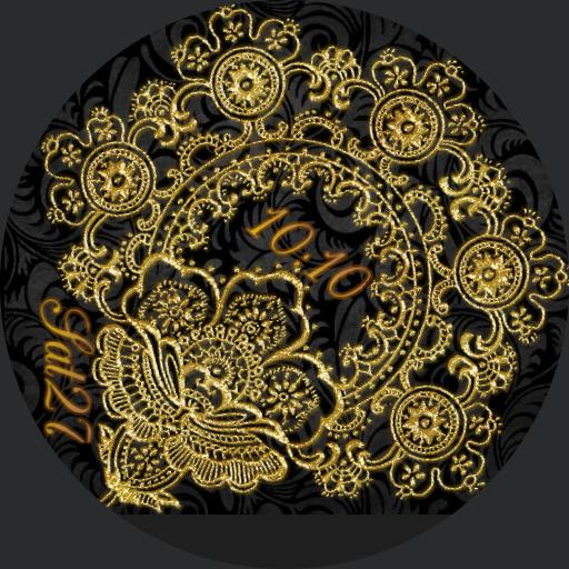 black Paisley, gold lace