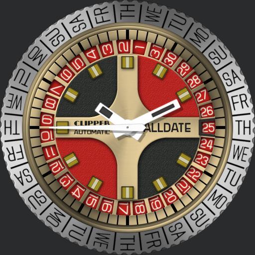 Clipper Alldate Ultramatic C.1970s