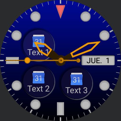 Analog Submariner blue