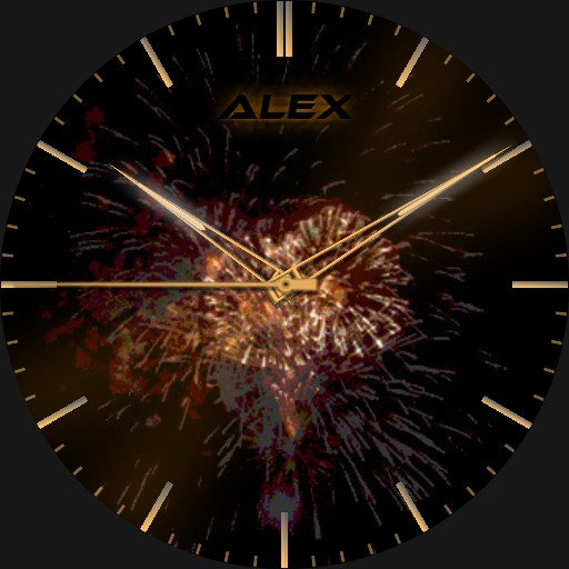 Alex New Year Analog Gradient Real 3D