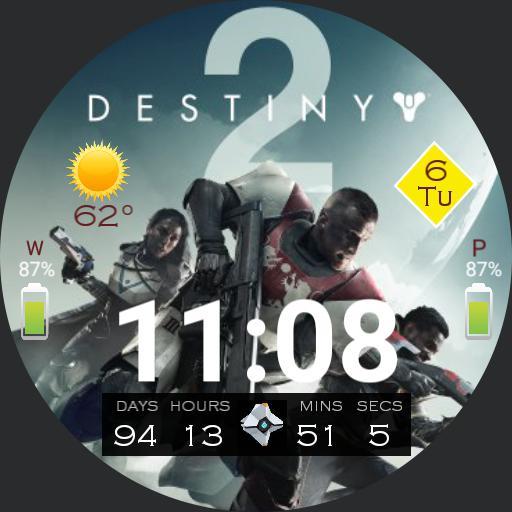 Destiny 2 Digital Countdown Watch Face Copy