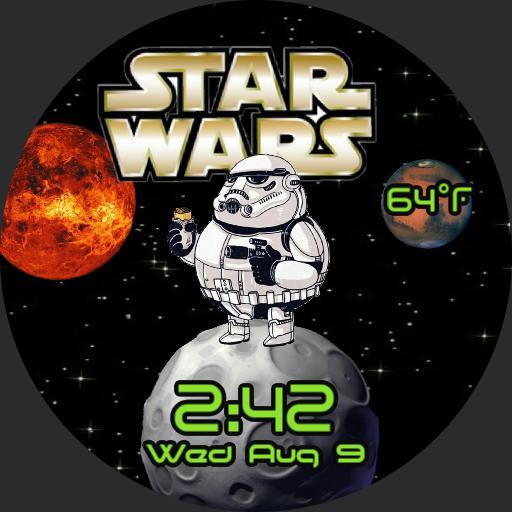 Star Wars by Face Pop Watchface Wear