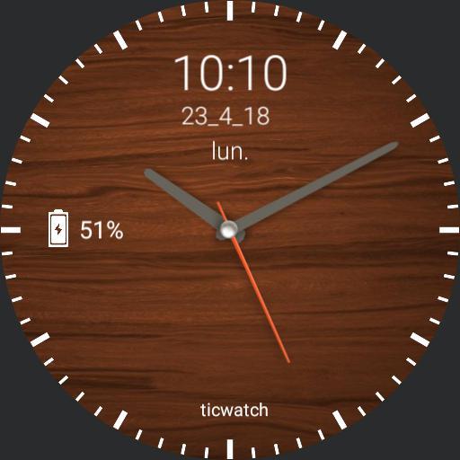elegant ticwatch E watch face