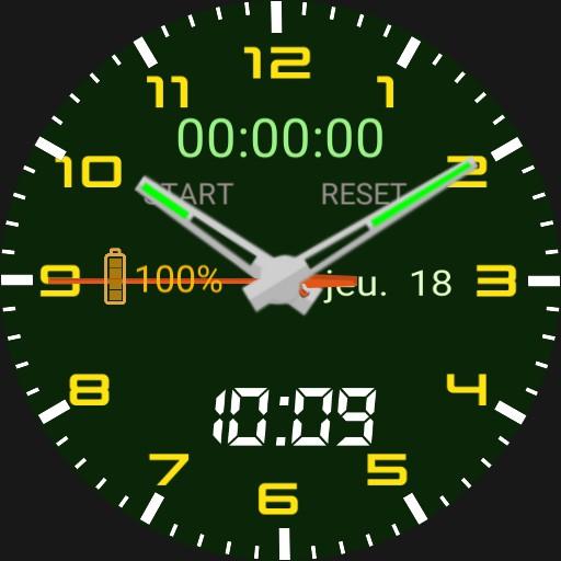 Luthosa Green Analogic stopwatch