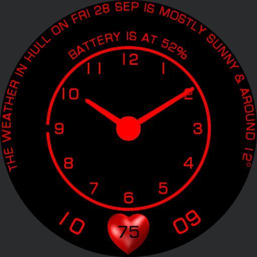 Black  Red  Simple