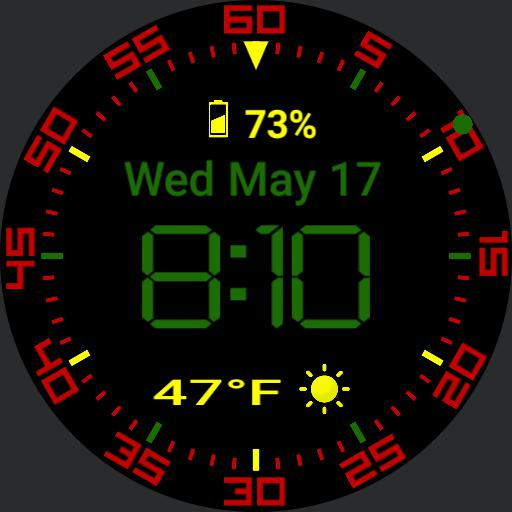 Digital rasta watchface