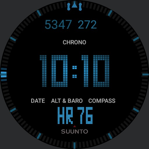 """Suunto Core All Black - """"The Equalizer"""" Movie Version Dimmable AOD Copy"""
