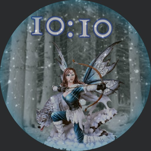 Fairy in the snow