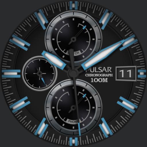 Pulsar Chronograph Blue