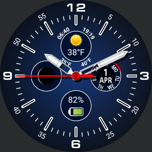 Four subdials - lots of info