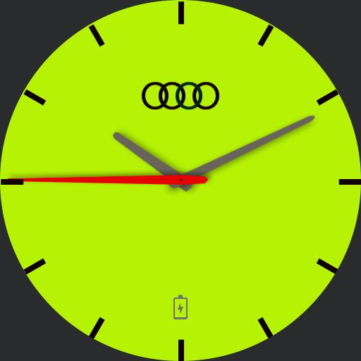 Audi watchface Lime Green