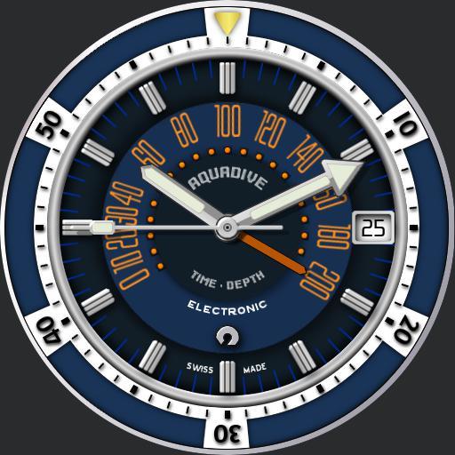 Aquadive Time Depth 50 C.1970s V2 Blue