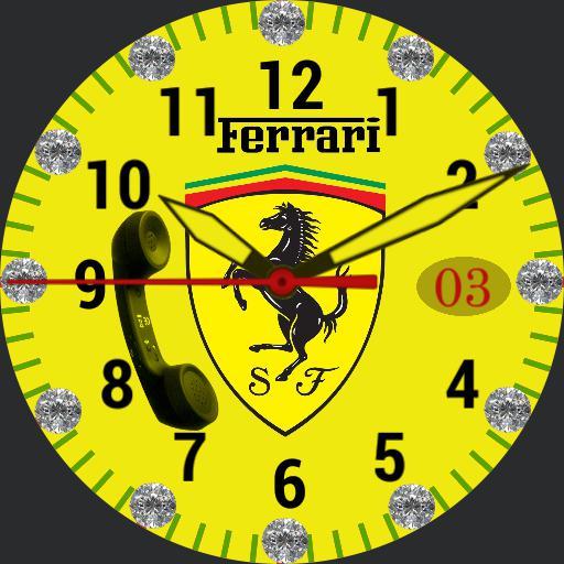 yellow Ferrari Diamond