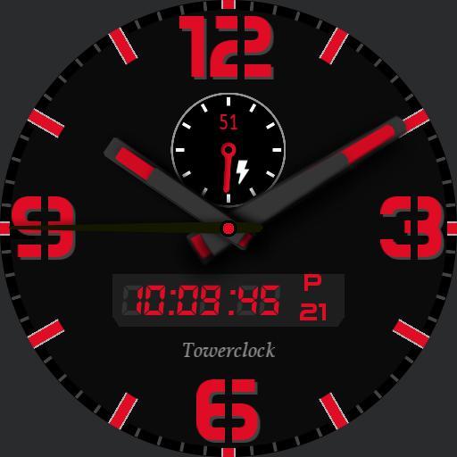 Towerclock color - black