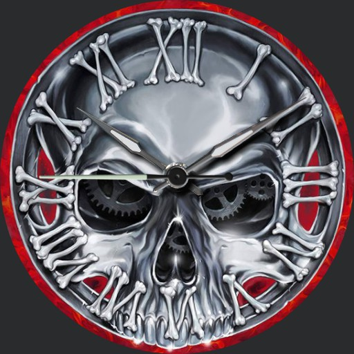 Axel Rudi Pell Skull Clock