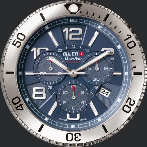 Buler Ocean Hero Chronograph - Blue