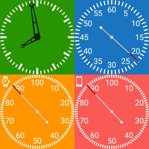 TTG Square 4 Colour 4 Dials