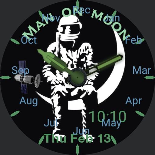 Man sat on moon Copy