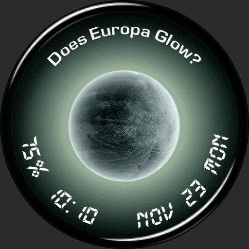 Europa glow effect with GIF