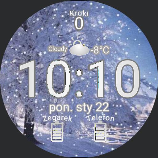Sniezny Zegarek