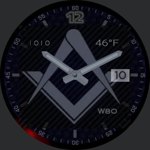 Masonic Square and Compass Dark