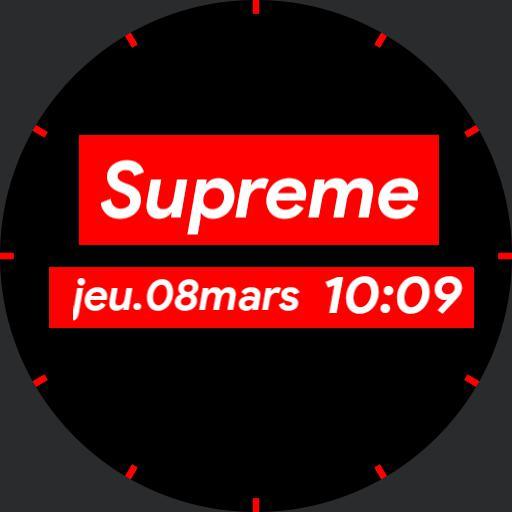 Supreme Digital Watch RED