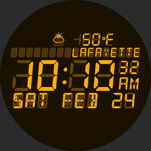 Color Variable LCD watch face