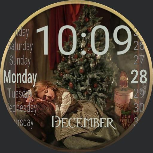 After Christmas Nap or Waiting for Santa Copy