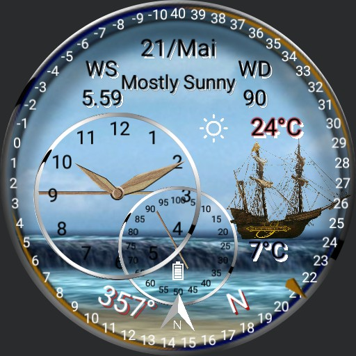 Wetter Watch , Seefahrt ,Segeln