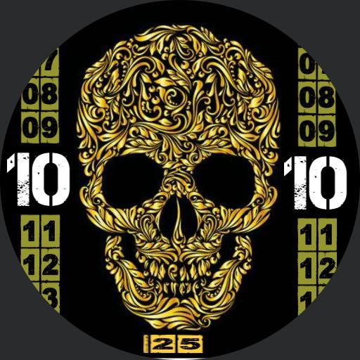 Mexican skull Gold Gello Copy