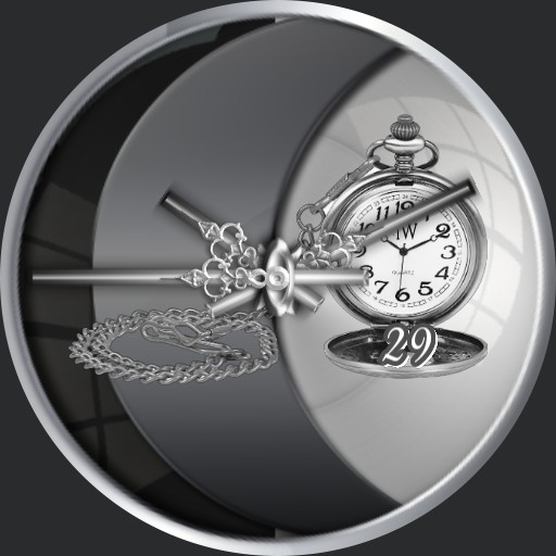 Grey old Clock with Slider